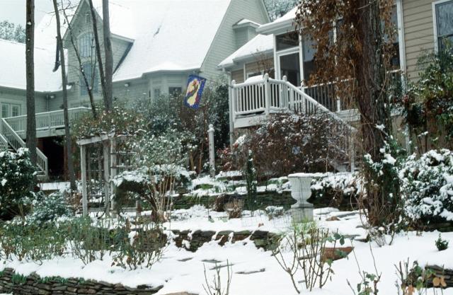 terraces in snow